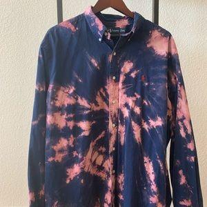 Ralph Lauren Tie Dye men's button down shirt